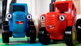 Сложное задание для Красного трактора - Как перевезти зверей - Синий трактор влог