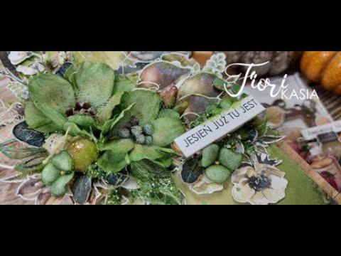 Leśna kartka z kwiatami FIORI tutorial