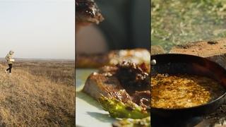 Нежнейший Стейк Джэк Дэниэлс | Расслабляющая ASMR кулинария на природе
