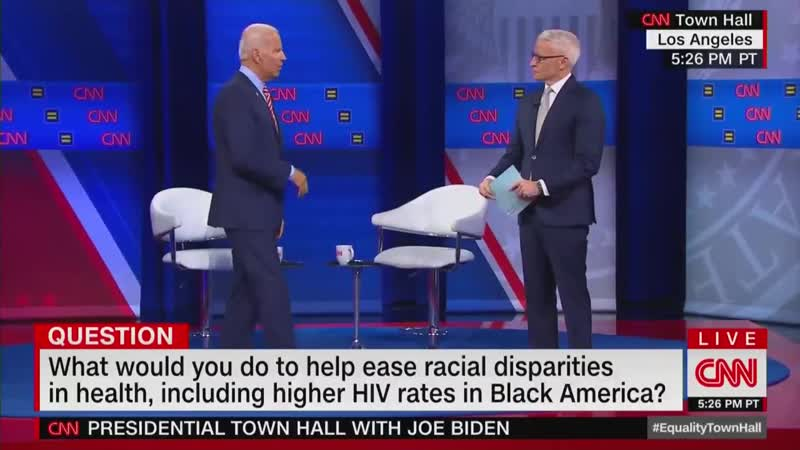 CNN Townhall Biden über gay bath houses zum schwulen Anderson Cooper