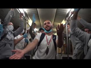 Автобус Зенита после победы в Кубке России