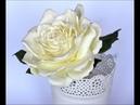 Róża z foamiranu rose foamiran roza Цветок из фоамирана flower