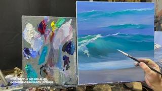 Как нарисовать море : видео-урок для начинающих по масляной живописи. Художник Игорь Сахаров
