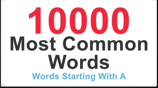 English Vocabulary Words With Synonyms and Examples: Most Common 10000  Words Starting With A