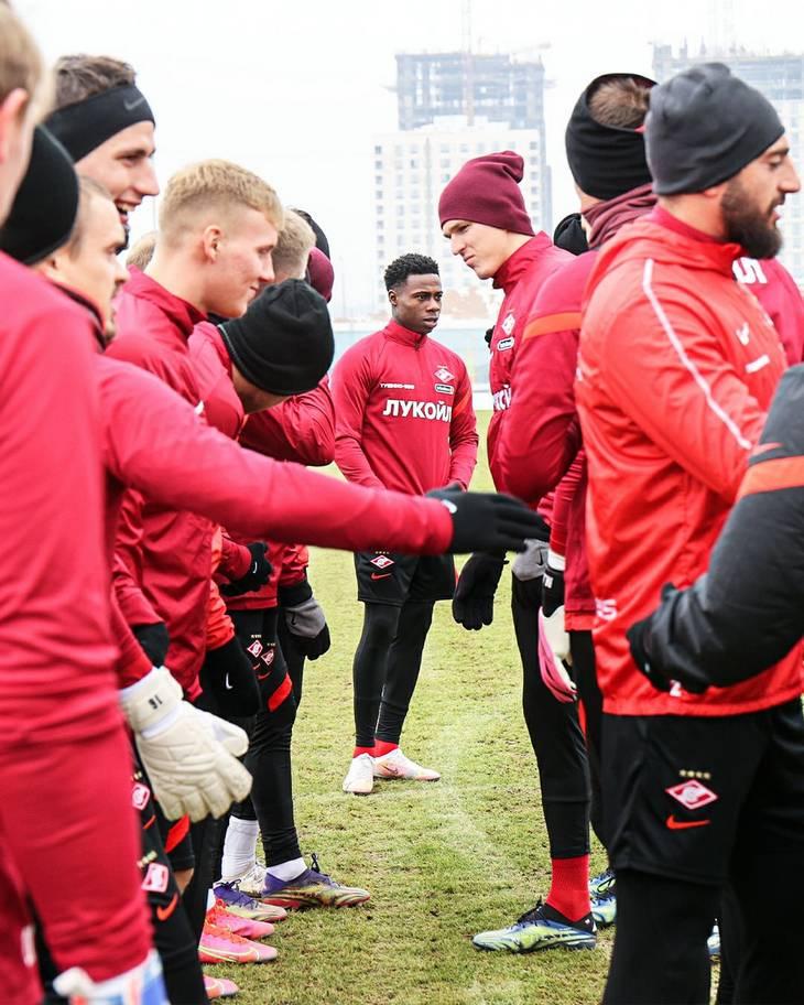 Первая тренировка Промеса после возвращения в «Спартак» (Фото)