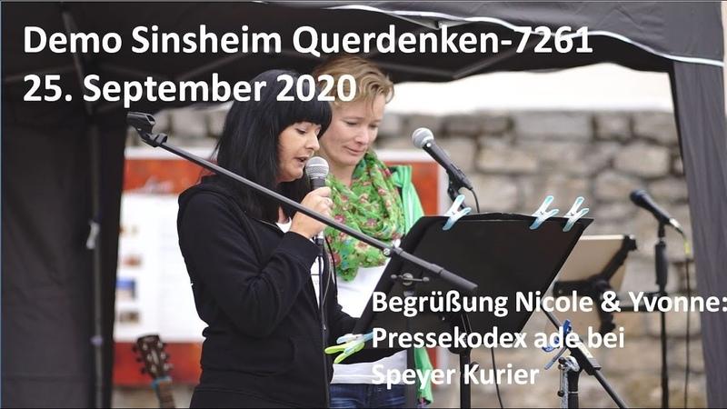 Begrüßung Nicole Yvonne Pressekodex ade bei Speyer Kurier 25 9 2020 Demo Sinsheim querdenken7261