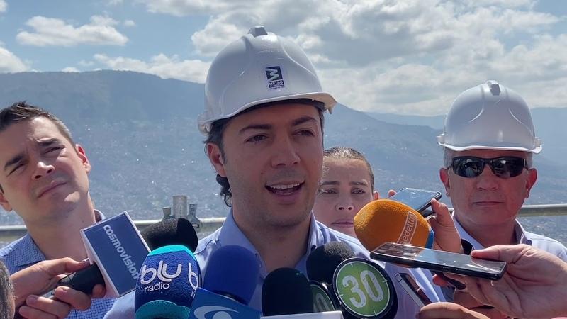 Alcalde Daniel Quintero visitó obras del MetroCable Picacho