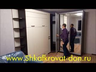 подъемная кровать и шкаф купе, угловой модуль
