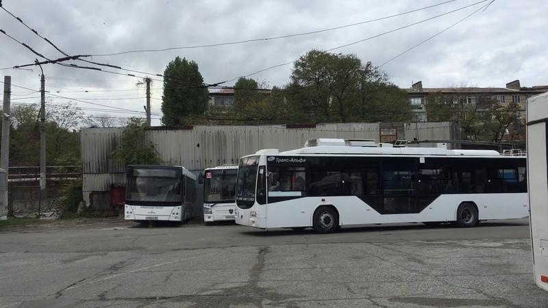 Заезд троллейбуса ВМЗ 5298 01 Авангард №5 на площадку с использованием автономного хода
