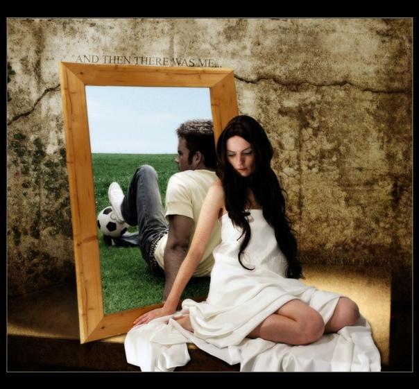 фото приложить друг к другу и зеркала что уменьшается после