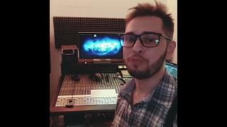 Дмитрий Жержов на студии звукозаписи Звук Records