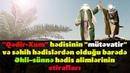 Qədir-Xum hədisi barədə Əhli–sünnə hədis alimlərinin etirafları