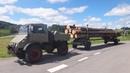 Unimog 411 im Langholztransport