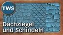 Tutorial Dachziegel und Schindeln für Dächer roof tiles and roof shingles Tabletop Gelände TWS