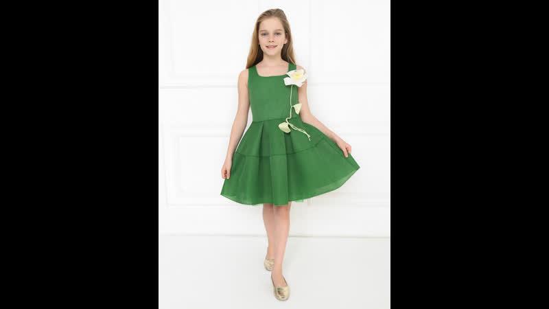 Детское платье из неопреновой сетки от BOSCO