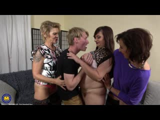 Danny (65), Irenka (61) & Suzzane (50) (A stepsons coming home party with three horny cougars) [2020, Groupsex, 1080p]