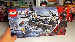 ЧЁРНАЯ ВДОВА УЖЕ В КИНО / ОБЗОР НАБОРА 76162 Black Widow Helicopter Chase / Лего / Lego