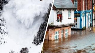 Потепление в Европе вызвало лавины и наводнение