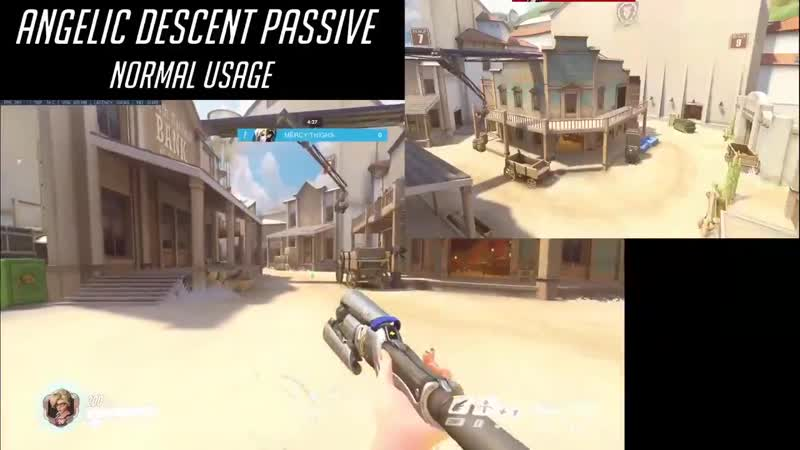 Passive sound and animation cancel - When mercy uses her Angelic Descent passive her wings open wide and she makes a sparkly