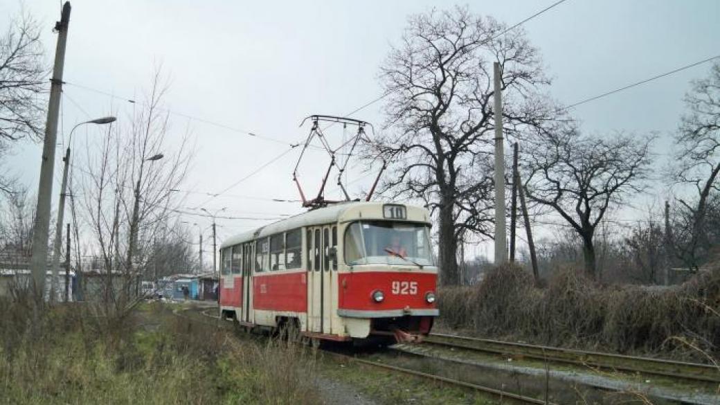 В Донецке не работает один из трамвайных маршрутов: что случилось