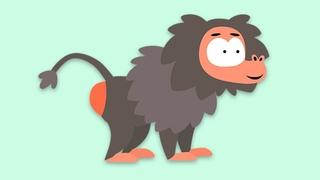 ЖИВОТНЫЕ - Котёнок Котэ - Песни мультики для детей малышей про попы