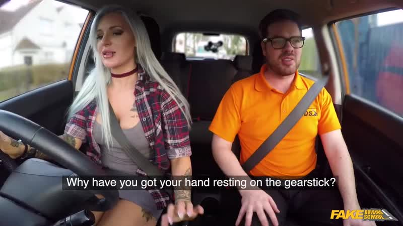 Гладкая Киса +18, , FDS, Fake Driving School. В машине, ученица, HD720,