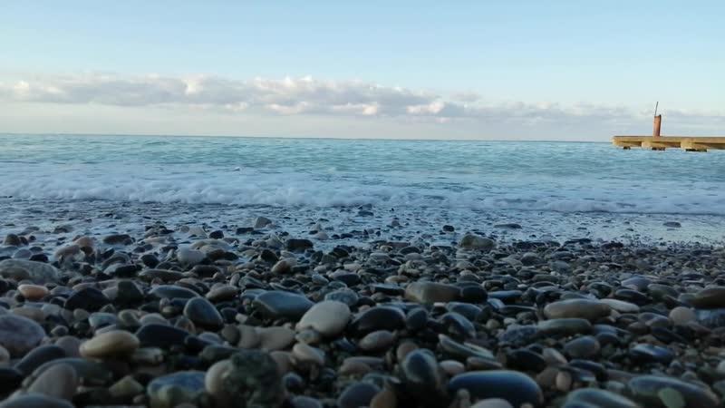 Черное море Абхазии 21 октября 2020