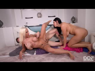 ddfb.20.06.28.kira.queen.and.kyra.hot.two.busty.babes.one.thick.shaft