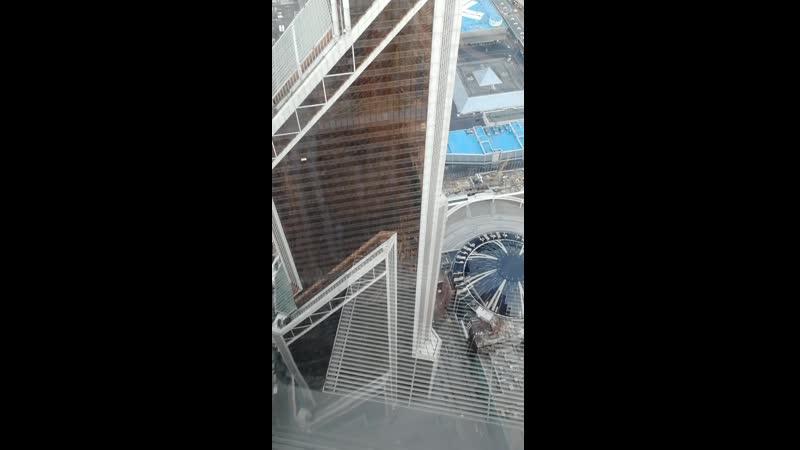 Вид со смотровой площадки Панорама 360 в Москоу сити башня Федерация