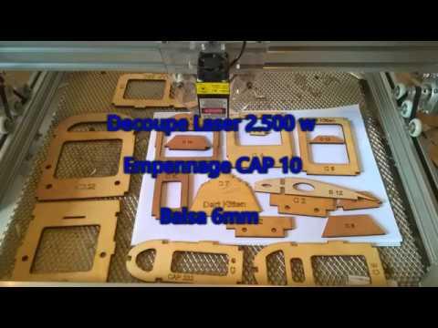Violet Laser 2 5 W Engraver Découpe Empennage CAP 10 balsa 6mm
