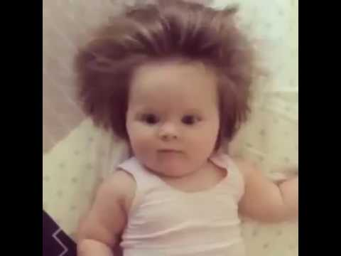Junior Cox Noon is only two months old but already has a full head of hair