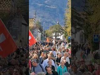 Demo für Frieden und Freiheit und  keine Diktatur in Altdorf/Schweiz 🇨🇭