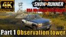 SnowRunner USA Michigan Black River Part 1 Observation tower 4K 🔴