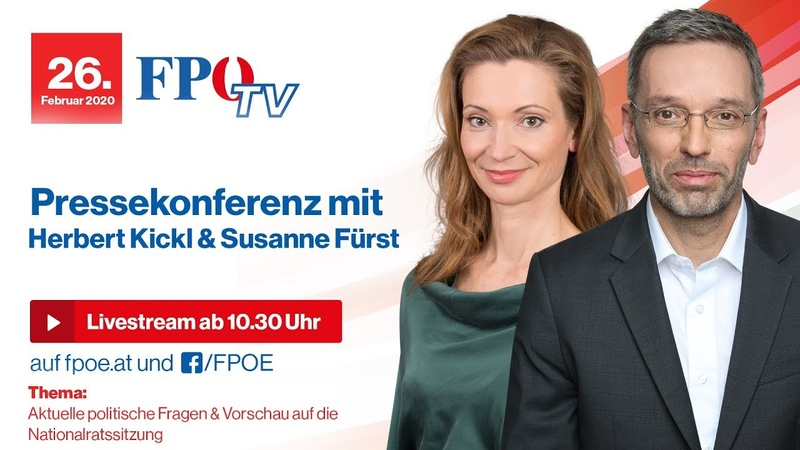 Pressekonferenz mit Herbert Kickl Susanne Fürst