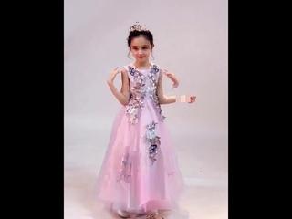 Изысканное осеннее детское платье принцессы с длинными рукавами и вышитыми цветами для девочек