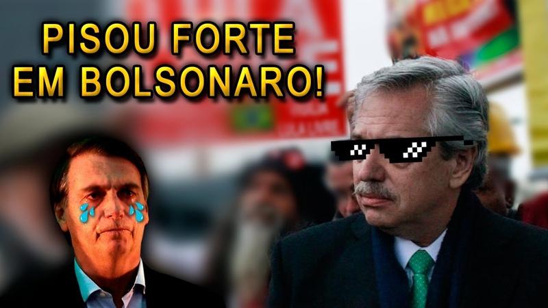 Vencedor da eleição na Argentina PISA FORTE em Bolsonaro no calo