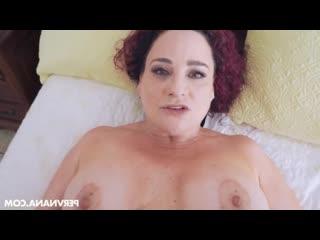 Внук трахает кудрявую бабушку, POV sex milf mom mature granny tit ass boob porn fuck bang love (Инцест со зрелыми мамочками 18+)