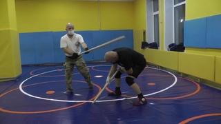 Упражнения с палками в паре.Продолжение предыдущего урока.В Н Крючков/Exercises with sticks