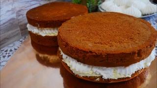Бисквитный МЕДОВИК торт с БЕЗЕ и МАСЛЯНЫМ КРЕМОМ. Торт на 8 марта. Рецепт БЕЛОСНЕЖНОГО БЕЗЕ