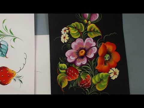 Вебинар Сказочный цветок в стиле жостово
