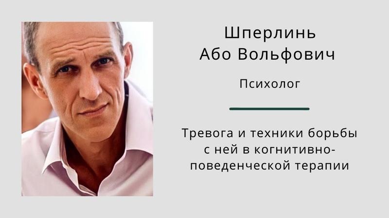 Тревога и техники борьбы с ней в когнитивно поведенческой терапии Або Вольфович Шперлинь