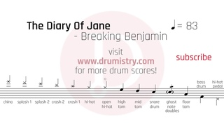 Breaking Benjamin - The Diary Of Jane Drum Score