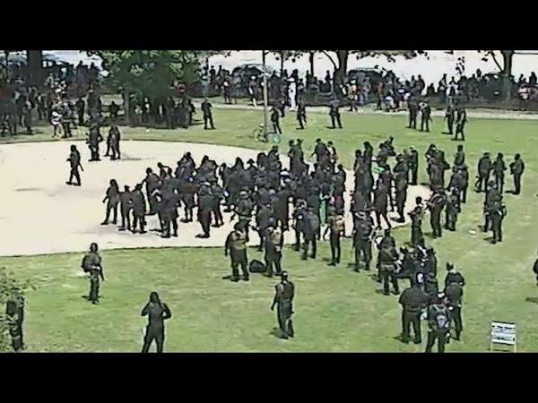 RAW NFAC Black militia member gun discharges injures 3, LMPD says