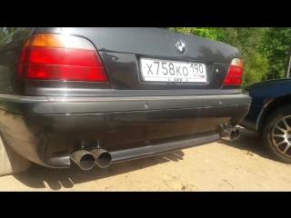 Выхлоп на BMW e38