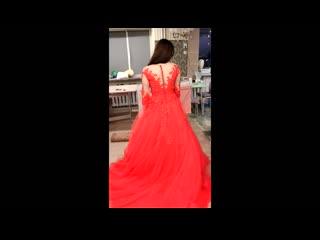 роскошное красное платье для выпускницы. Пошив и дизайн от Ольги Бояркиной