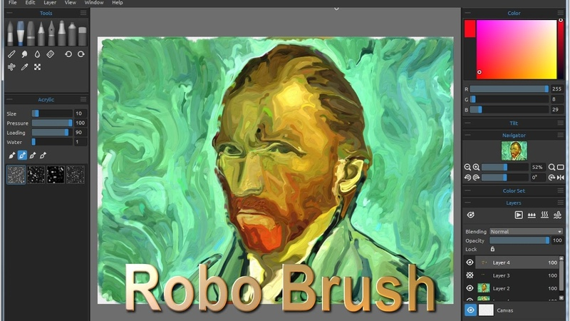 Automatic painting in Rebelle with RoboBrush