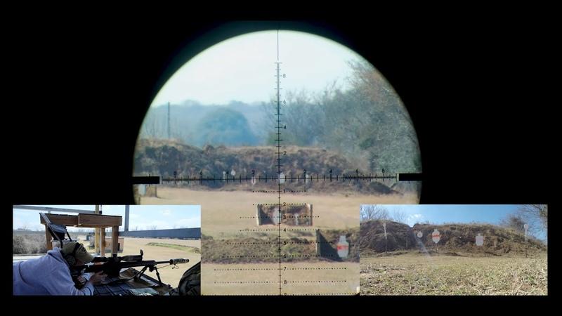 Suppressed Barrett MRAD 338 Lapua Magnum 1000 Yard Practical Precision POV and Target Cam