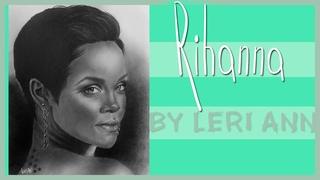 L.A: Draw a portrait. Rihanna\Рисуем портрет. Рианна