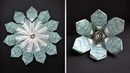 My Two Different Money Flowers (Mandala) from the same modules | Dollar Origami|Tutorial by NProkuda