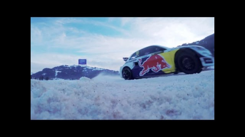 Driving a Rallycross Car on Ice w Felix Neureuther